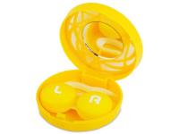 Alensa.es - Lentillas - Estuche de lentillas con ornamento - Amarillo