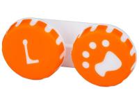 Alensa.es - Lentillas - Estuche de lentillas con huella - naranja