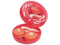 Alensa.es - Lentillas - Estuche de lentillas con ornamento - Rojo