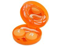 Alensa.es - Lentillas - Estuche de lentillas con ornamento - naranja