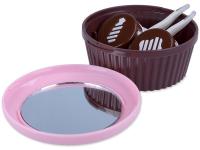 Alensa.es - Lentillas - Estuche con espejo Muffin - rosa